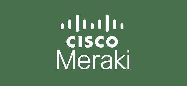 Cisco Meraki Logo Weiß