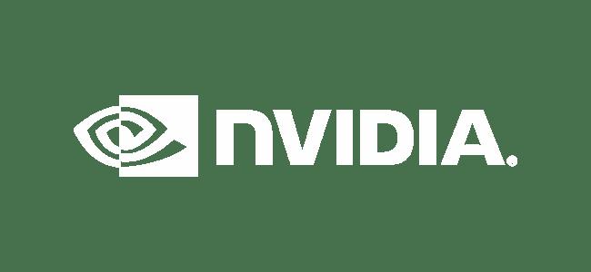 Nvidia Logo Long White